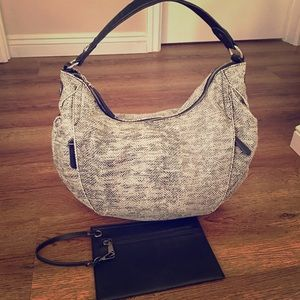 JLo Hobo Style Bag & Black Wristlet